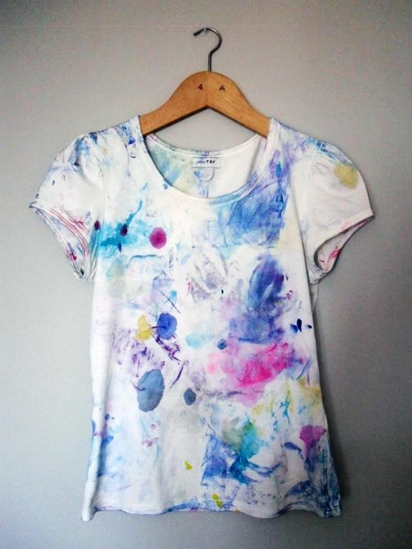 Mi camiseta de pintar moniquilla dise o de estampados - Pinturas para pintar camisetas ...